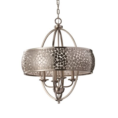 Energo Zara 4 Light Candle Chandelier