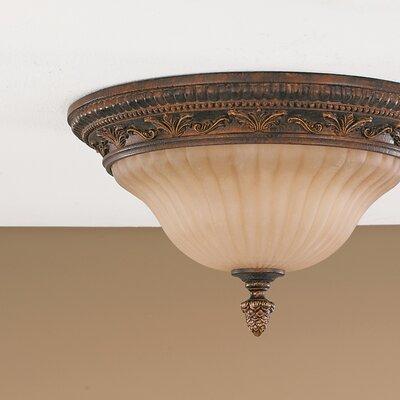 Energo 2 Light Flush Ceiling Light