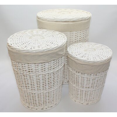 Wicker Valley Willow 3 Piece Laundry Basket Set