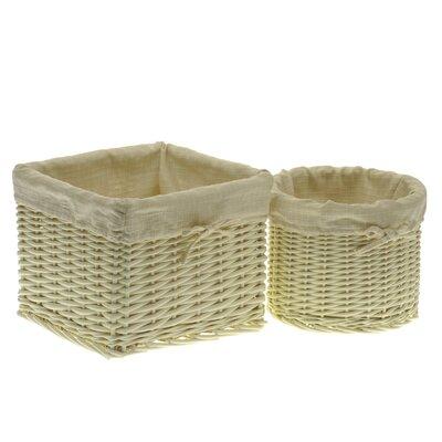 Alpen Home Storage Basket Set with Cream Lining