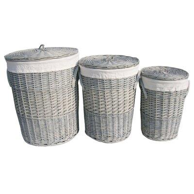 Wicker Valley 3 Piece Round Laundry Basket Set