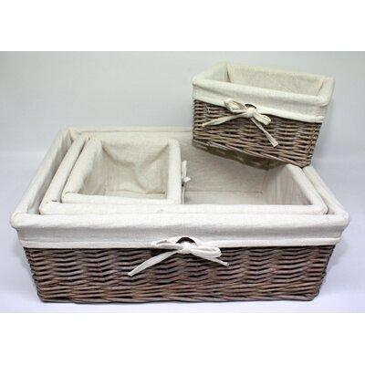 Wicker Valley 4 Piece Storage Basket Set