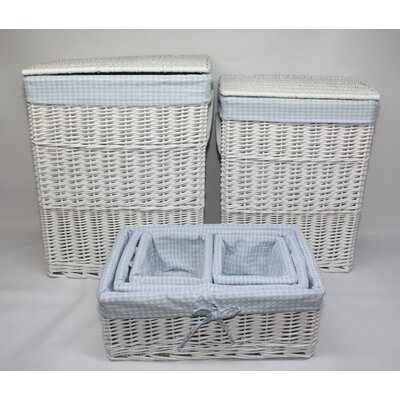 Wicker Valley 4 Piece Gingham Laundry and Storage Set