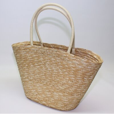 Wicker Valley Straw Shopper