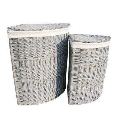 Wicker Valley 2 Piece Corner Laundry Basket Set