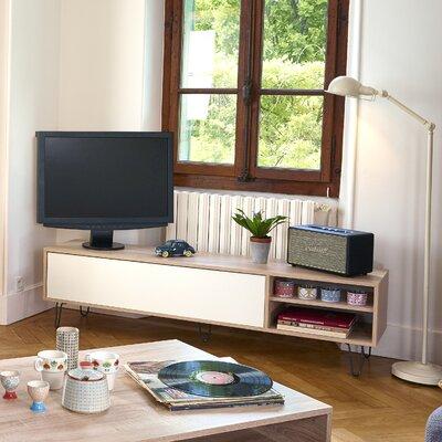 "Graham 65"" TV Stand Color: Natural Oak/White"