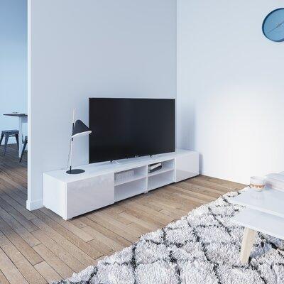 "Fairley 73"" TV Stand Color: White"