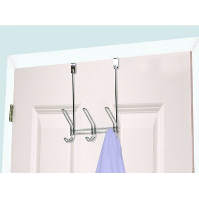 3 Hook Over Door Coat Rack (Set of 2)
