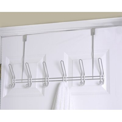 6 Hook over the Door Coat Rack (Set of 2)