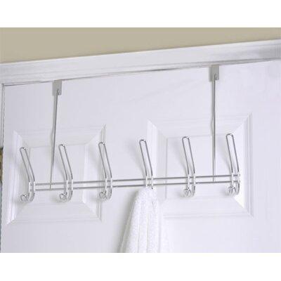 6 Hook over the Door Coat Rack (Set of 2)