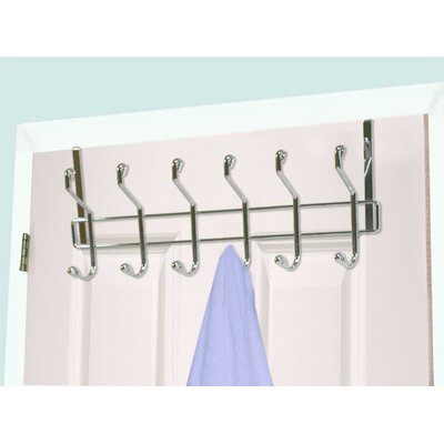 6 Hook Wall Mounted Coat Rack