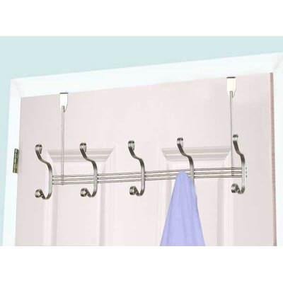 Satin Nickel Wall Mounted Coat Rack