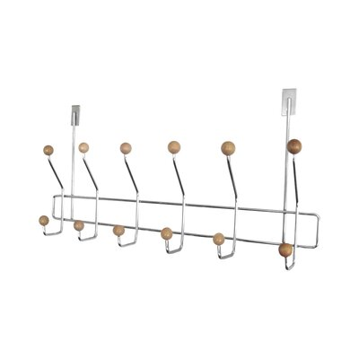 Over The Door 6 Hook Towel Rack