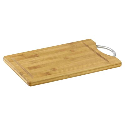 "Bamboo Cutting Board with Handle (Set of 2) Size: 1.5"" H x 15"" W x 10"" D"