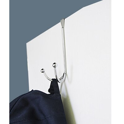 Over the Door Double Hook Wall Mounted Coat Rack (Set of 4)