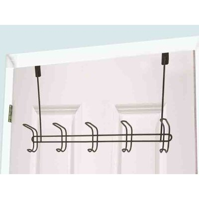 5 Hook Wall Mounted Coat Rack (Set of 2)