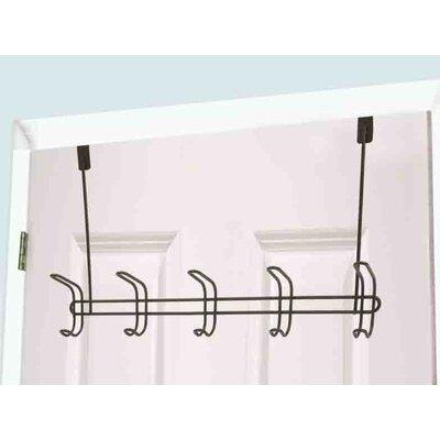 5 Hook Wall Mounted Coat Rack (Set of 2)