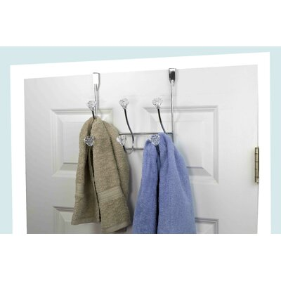 3 Hook Crystal Wall Mounted Coat Rack