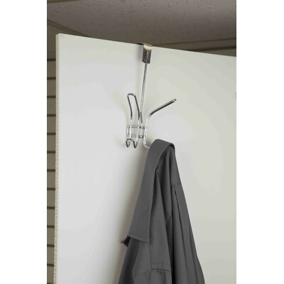 Double Hook Wall Mounted Coat Rack (Set of 4)