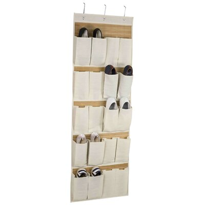 20-Pocket 10 Pair Hanging Shoe Organizer