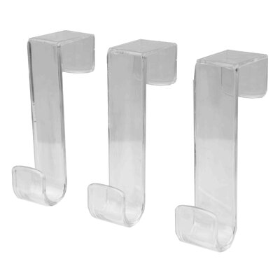 Plastic 3 Piece Wall Hook Set (Set of 2)