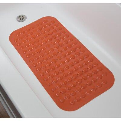 Rubber Bath Mat (Set of 2) Color: Orange