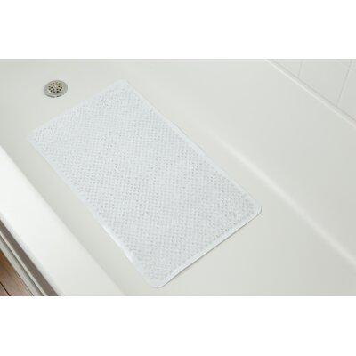 Rubber Grass Bath Mat Color: White