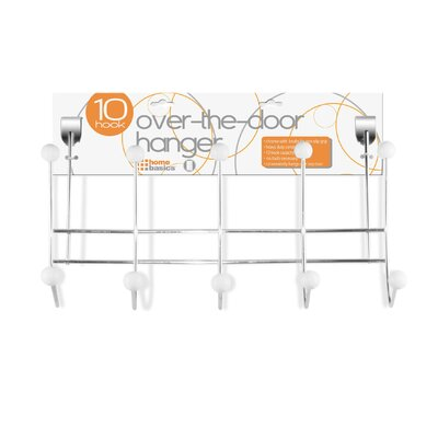 5 Hook Over the Door Coat Rack (Set of 2) Finish: Black / White, Color: White