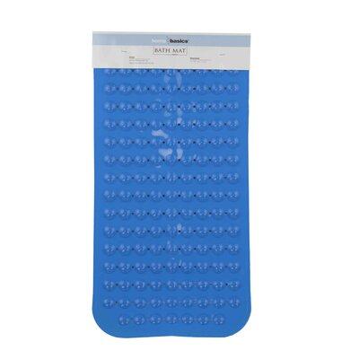 Rubber Bath Mat (Set of 2) Color: Blue