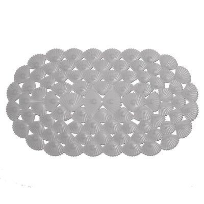 Shells Rubber Bath Mat (Set of 2) Color: Gray