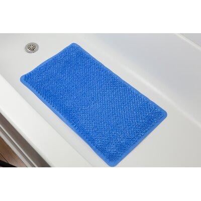 Rubber Grass Bath Mat Color: Blue