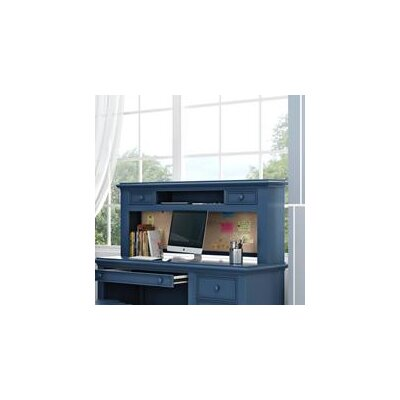 "Inwood 54"" W Desk Hutch with 2 Drawers and Corkboard Finish: Willliamsburg Blue"