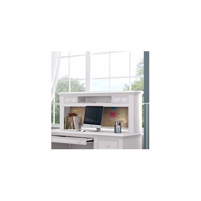 "Inwood 54"" W Desk Hutch with 2 Drawers and Corkboard Finish: Bright White"