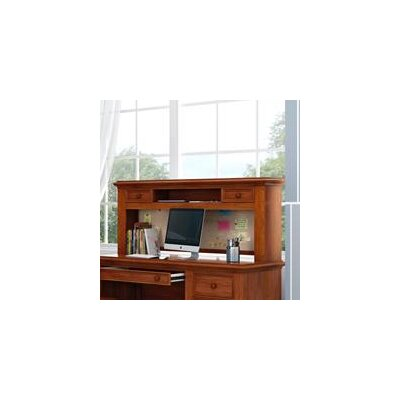 "Inwood 54"" W Desk Hutch with 2 Drawers and Corkboard Finish: Warm Cherry"