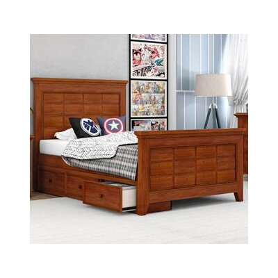 Inwood Complete Bed Color: Warm Cherry, Size: Full