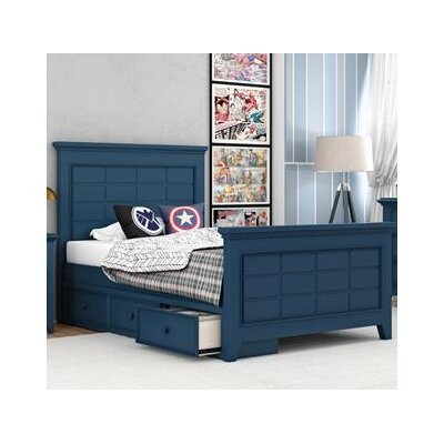 Inwood Complete Bed Size: Full, Color: Willliamsburg Blue