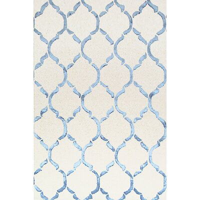 Bakero Chain Hand-Knotted Light Blue Area Rug