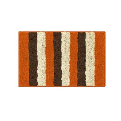 """Microfiber Radella Bath Mat Size: 16"""" x 24"""", Color: Orange"""