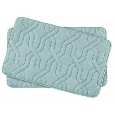 Drona Small Premium Micro Plush Memory Foam Bath Mat Set Color: Aqua