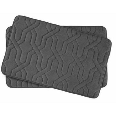 Drona Small Premium Micro Plush Memory Foam Bath Mat Set Color: Dark Gray