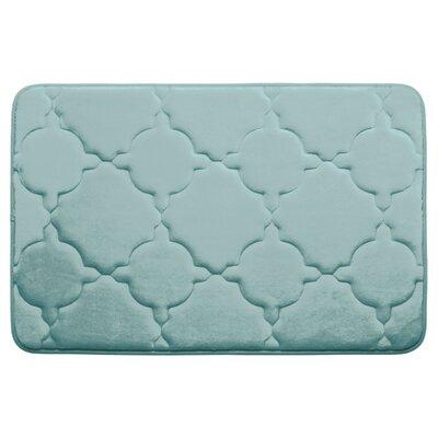 "Dorothy Premium Micro Plush Memory Foam Bath Mat Color: Dark Grey, Size: 24"" x 17"""
