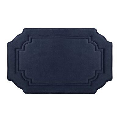 "Calypso Premium Micro Plush Memory Foam Bath Mat Color: Linen, Size: 24"" x 17"""