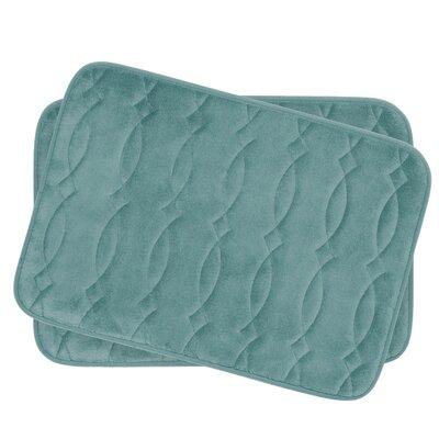 Grecian Small Plush Memory Foam Bath Mat Set Color: Marine Blue
