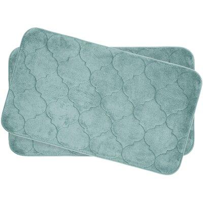 Faymore Small Plush Memory Foam Bath Mat Set Color: Aqua