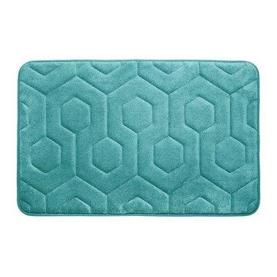 Micro Plush Memory Foam Bath Rug Color: Turquoise
