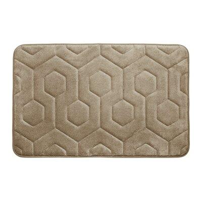 Micro Plush Memory Foam Bath Rug Color: Linen