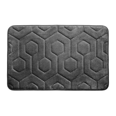 Micro Plush Memory Foam Bath Rug Color: Dark Grey