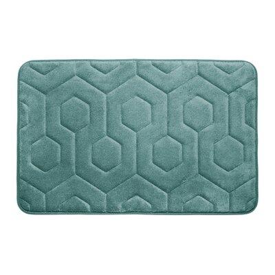 Micro Plush Memory Foam Bath Rug Color: Marine Blue
