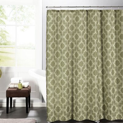 Faux Linen Textured Shower Curtain Set Color: Taupe