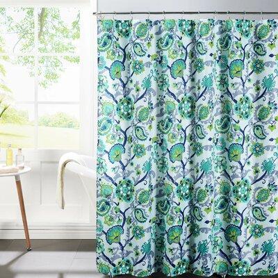 Diamond Weave Textured Shower Curtain Set Color: Aqua
